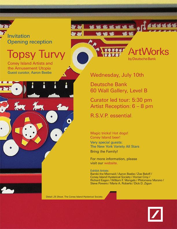 Topsy Turvy Exhibit Evite